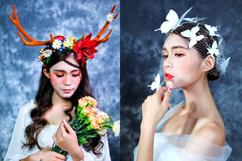 顺德化妆76班创意新娘造型妆作品