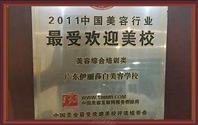 中国美容行业最受欢迎美校
